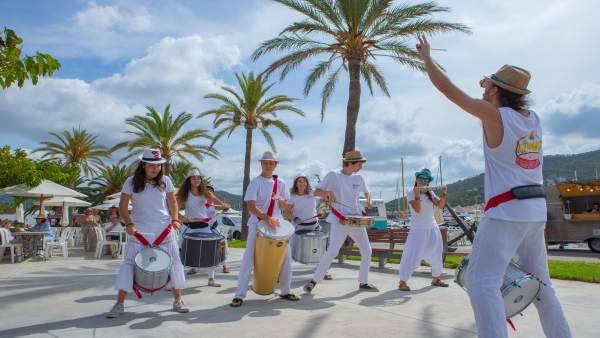 Batucada en el Club Náutico Puerto de Andratx