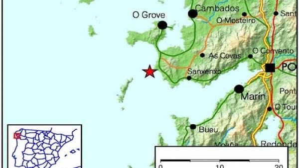 Terremoto en Sanxenxo