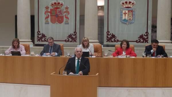 El presidente del Gobierno de La Rioja, Jose Ignacio Ceniceros