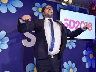 Jimmie Akesson, líder del ultraderechista Demócratas de Suecia