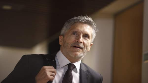 Comparecencia de Grande-Marlaska en la Comisión de Interior en el Congreso