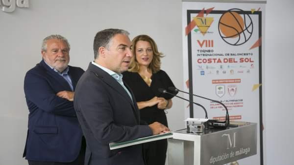 Presentación del acuerdo entre Diputación y Canal Sur para torneo baloncesto
