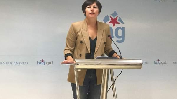 Ana Pontón, portavoz nacional del BNG, en rueda de prensa