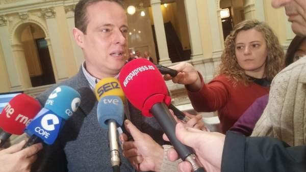 El portavoz del Grupo Parlamentario Socialista de Asturias, Marcelino Marcos
