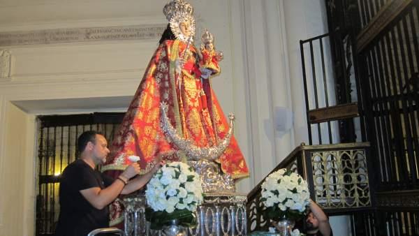 Imagen de la Virgen de la Fuensanta, patrona de Murcia