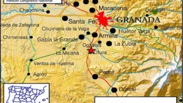 Terremoto de magnitud 2,7 con epicentro en Armilla