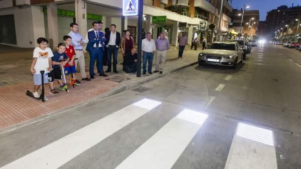 Paso de peatones 'inteligente' en Almería