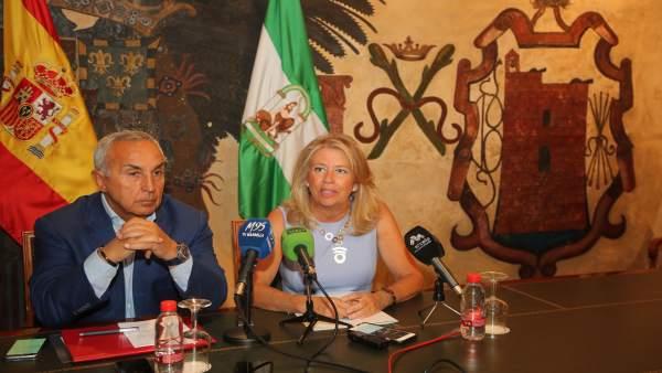 Alcaldesa de Marbella en rueda de prensa