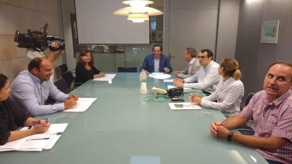 Marc Pons en el comité de rutas
