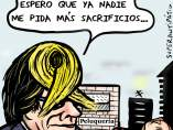 'El sacrificio de Puigdemont', viñeta de Superantipático