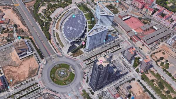 Rotonda del Palacio de Congresos de Valencia