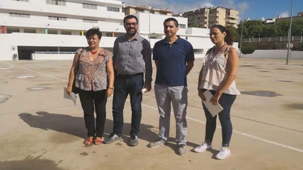 Alcalde de Palma, Antoni Noguera; Susanna Moll y A. Romero