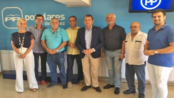 Dirigentes del PP de Cádiz y la Sierra