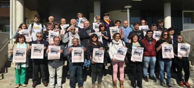 Representantes de la plataforma Lleida Lliure de Franquisme
