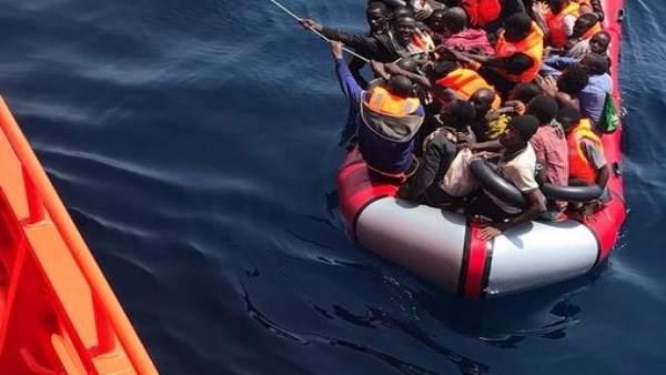 Inmigrantes rescatados este mes de agosto en Andalucía