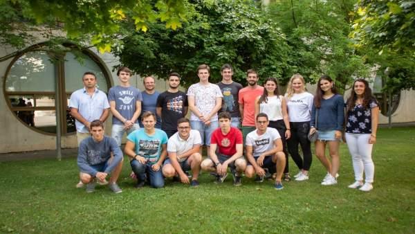 Estudiantes de la UPNA que participan en el Programa de Mentoría.