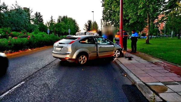 Accidente con alcoholemia positiva en Valladolid