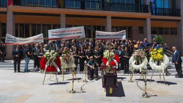 Protesta de trabajadores de Tanatorios de Córdoba
