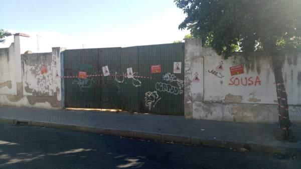 Muro exterior del antiguo Estadio de San Eulogio