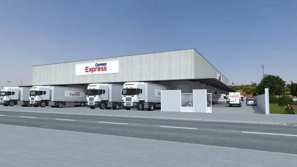 Maqueta de la nueva central logística