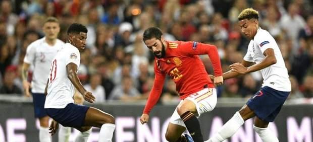 Isco, en el partido entre Inglaterra y España.