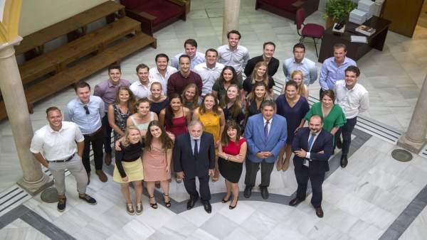Visita de letrados holandeses al Colegio de Abogados de Sevilla