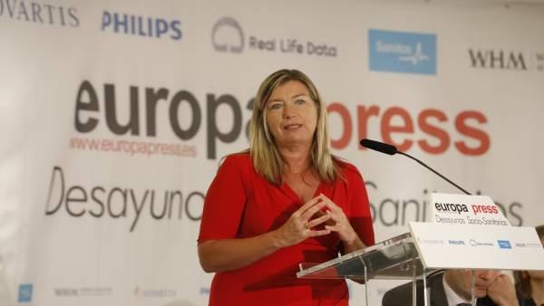 Desayuno socio-sanitario de Europa Press en Madrid con la consellera de Salud de