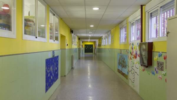 Colegio, pasillo, aula, clase, primaria, infantil