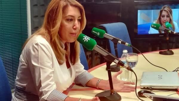 Susana Díaz entrevistada en Canal Sur Radio