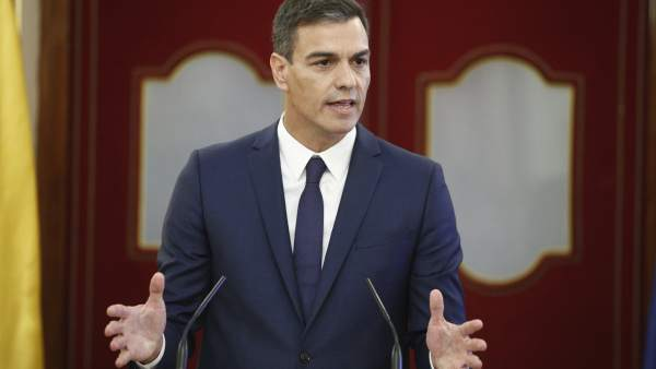 Rueda de prensa del presidente del Gobierno, Pedro Sánchez.