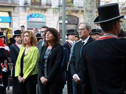 Ofrenda floral del Govern al monumento de Rafael Casanova.