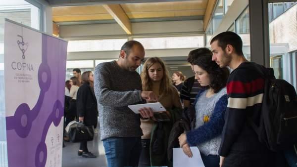 Un foro de empleo celebrado por la Universidad de Navarra.