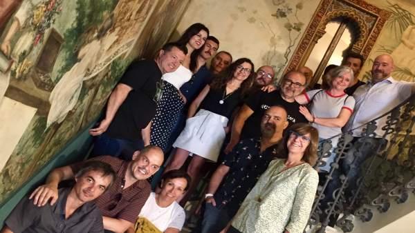Miriam Guardiola con representantes artes escénicas