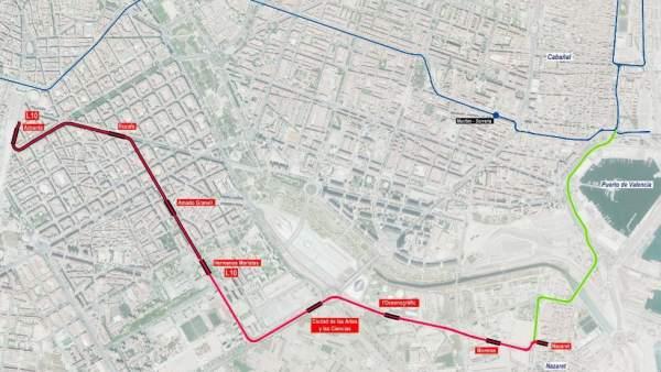 FGVproposa situar les cotxeres de la línia 10 del metro a Natzaret