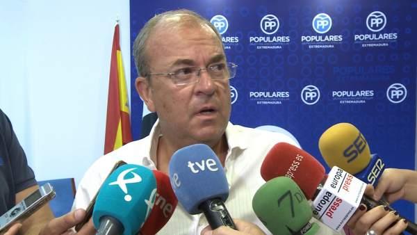 Presidente del PP extremeño, José Antonio Monago