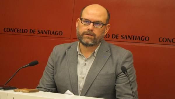 El alcalde de Santiago, Martiño Noriega