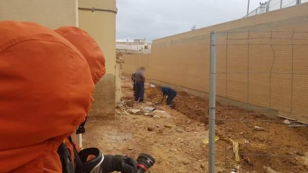 Bomberos actúan por una fuga de gas