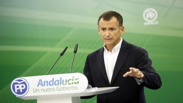 El vicesecretario de Sectores Productivos del PP-A, Pablo Venzal