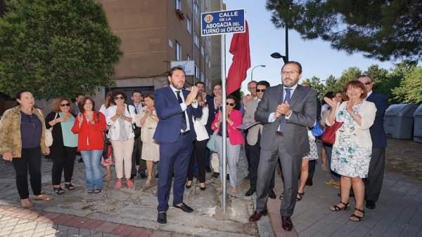 Valladolid.- Inauguración de la calle de la Abogacía del Turno de Oficio