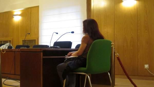 La acusada, durante su declaración en el juicio.