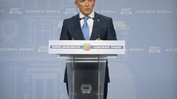 El portavoz del ejecutivo vasco, Josu Erkoreka,