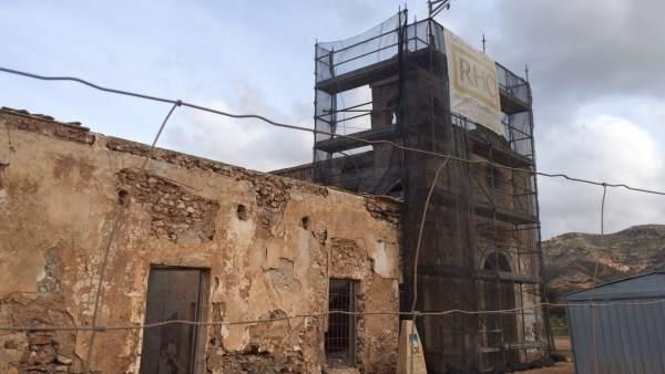 Obras de consolidación de la capilla del Cortijo del Fraile