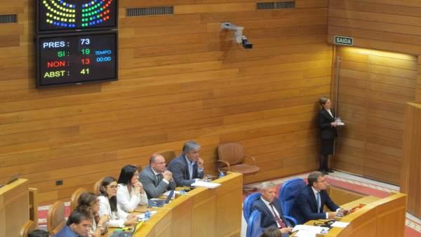 Votación de la comisión de O Marisquiño en el Parlamento gallego