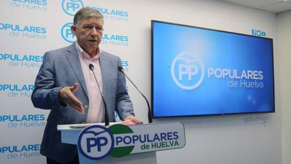 El diputado nacional por el PP de Huelva, Carmelo Romero.