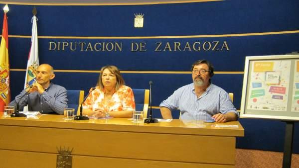 Pascual, Ceamanos y Cazorla han presentado la 6ª Feria Expo Alfindén Activa