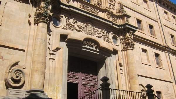 Fachada del edificio histórico de la UPSA. IMAGEN DE ARCHIVO