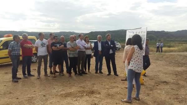 Soro ha explicado hoy el proyecto de mejora de la A-1412, en Maella