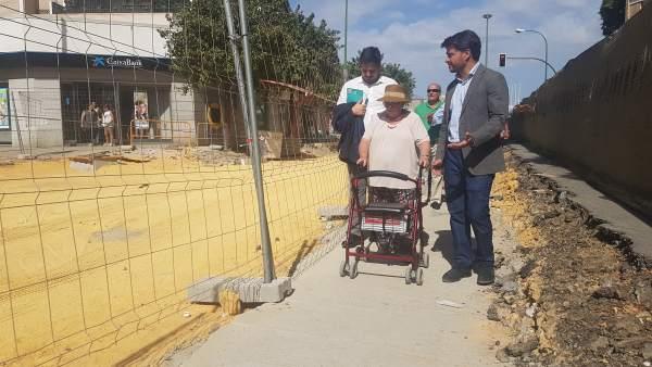 Beltrán Pérez visita las obras
