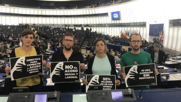 Europarlamentarios contra el acoso sexual