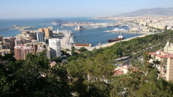 Vistas aéreas de Málaga